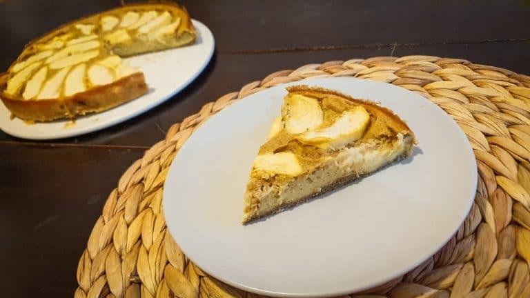 Tarta de manzana FIT