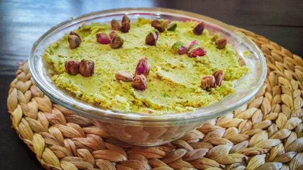 Hummus de pistacho
